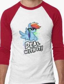 My Little Pony - MLP - Rainbow Dash - Deal With It Men's Baseball ¾ T-Shirt