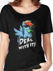 My Little Pony - MLP - Rainbow Dash - Deal With It Women's Relaxed Fit T-Shirt