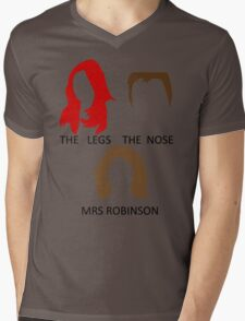 The Legs, The Nose and Mrs Robinson Mens V-Neck T-Shirt