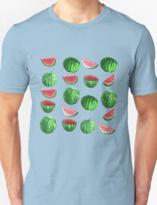 Hand drawn water color seamless pattern of water melons. T-Shirt