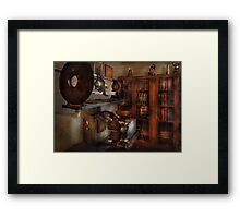 Optometrist - The lens apparatus Framed Print