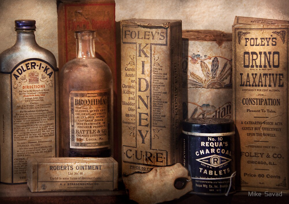Pharmacy - Cures for the Bowels by Mike  Savad