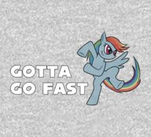 My Little Pony - MLP - Rainbow Dash - Gotta Go Fast Kids Tee