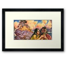 Iefay and his daughter Framed Print