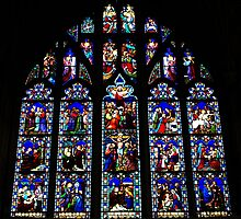 Christchurch Priory stained glass window by Chris Day