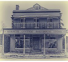 Morpeth Cottage Bakehouse in Antique Look Photographic Print