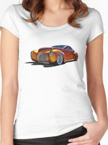 Lincoln Zephyr hot rod in gold Women's Fitted Scoop T-Shirt