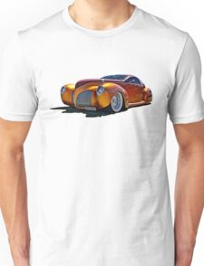 Lincoln Zephyr hot rod in gold Unisex T-Shirt