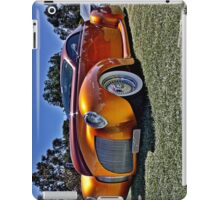 Lincoln Zephyr hot rod in gold iPad Case/Skin