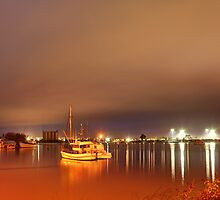 Stormy night - Tamar River Launceston by Ben Swanson
