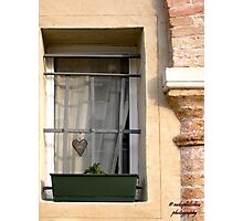 A Window with A Heart Photographic Print