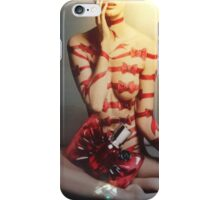 Red bows and bandages iPhone Case/Skin