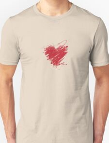 Scribble Heart - [Red] T-Shirt