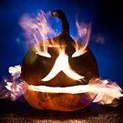 Flaming Pumpkin by David Preston