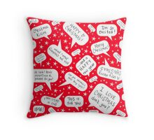 Christmas speech bubbles Throw Pillow