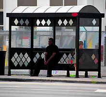 Waiting for the Bus by Joy  Rector