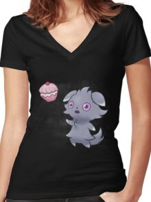 Pokemon - Espurr Poffin Women's Fitted V-Neck T-Shirt