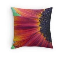 First Sunflower of the Season Throw Pillow