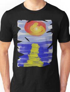 Sunset over sea Unisex T-Shirt