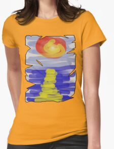 Sunset over sea Womens Fitted T-Shirt