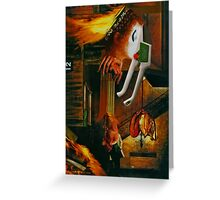 House of the Night Poacher. Greeting Card
