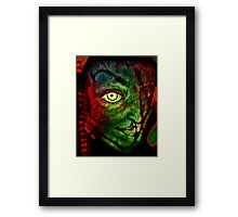 "Sketchbook Page 36, ""The Alien"" Framed Print"