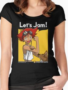 Jamming with Edward Women's Fitted Scoop T-Shirt