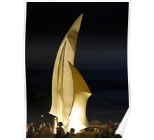 Kelowna Sails At Night Poster
