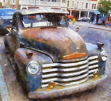 Old Car in Santa Fe by Aramantha