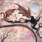 """""""Winds of Autumn"""" Fairy and Dragon  by Molly  Harrison"""
