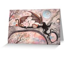 """Winds of Autumn"" Fairy and Dragon  Greeting Card"