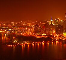 Pittsburgh CityScape after Dusk by riopelphotos