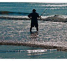 SURF FISHERMEN  Photographic Print