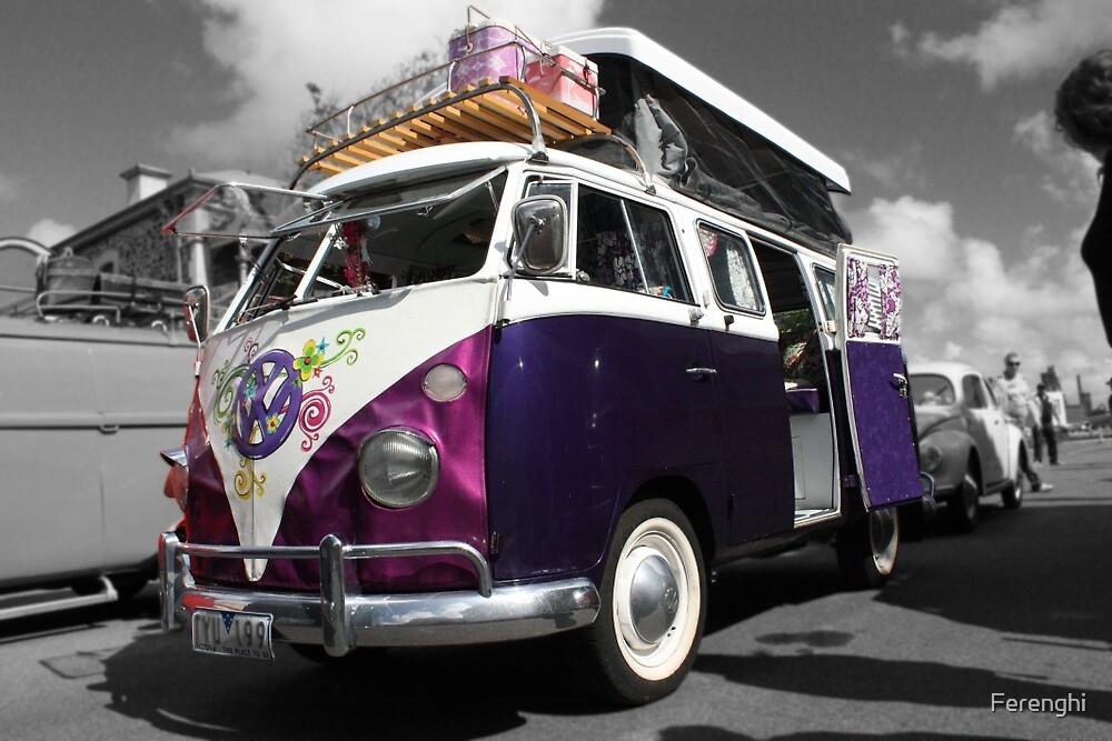 Purple Volkswagen Kombi poptop by Ferenghi