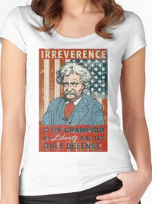 Mark Twain Irreverence & Liberty Women's Fitted Scoop T-Shirt