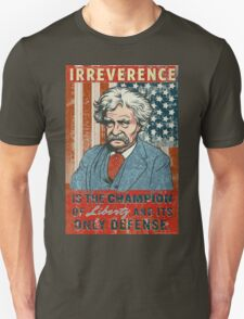 Mark Twain Irreverence & Liberty Unisex T-Shirt