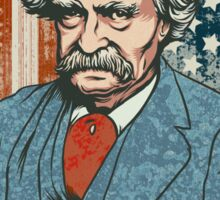 Mark Twain Irreverence & Liberty Sticker