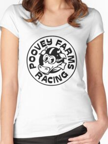 Poovey Farms Racing Women's Fitted Scoop T-Shirt
