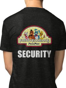 Five Nights at Freddy's - FNAF 2 -  Freddy Fazbear's Security Logo Tri-blend T-Shirt