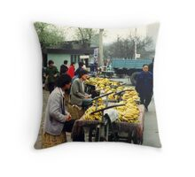 Bananas, Beijing Throw Pillow