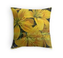 With Special Wishes For A Speedy Recovery Throw Pillow