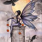 &quot;Autumn Raven&quot; Gothic Fairy and Ravens  by Molly  Harrison