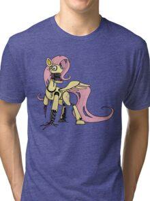 My Little Pony - MLP - FNAF -  Fluttershy Animatronic Tri-blend T-Shirt