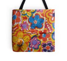 Duck with Flowers Tote Bag