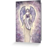 """Angel's Perch"" Angel Art by Molly Harrison Greeting Card"