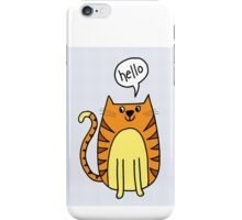 cat saying hello iPhone Case/Skin