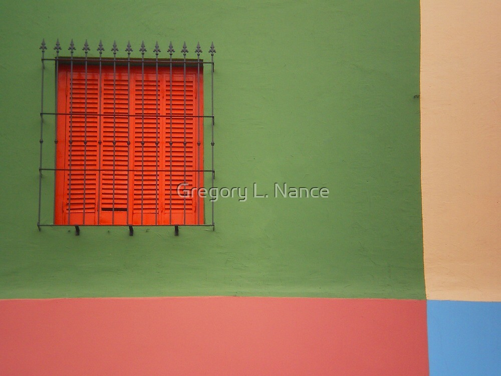 La Boca Abstract II - Buenos Aires by Gregory L. Nance