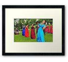 Buryat dancing girls Framed Print