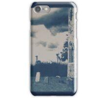Cyanotype of Somerton Church & Wind Farm iPhone Case/Skin