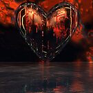 Heart Fractales by Sazzart